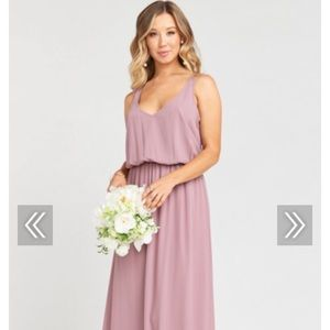 Mumu KENDALL MAXI DRESS ANTIQUE ROSE CHIFFON